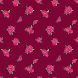 Seamless pattern with pink peonies Royalty Free Stock Photo