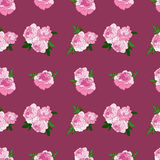 Seamless pattern with pink peonies Stock Photo