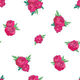 Seamless pattern with pink peonies Stock Image