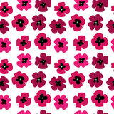 Seamless pattern with pink poppies. Seamless pattern with a pink poppies Stock Images