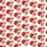Seamless pattern with pink, red and orange gerberas. Watercolor illustration. Seamless pattern with pink, red and orange gerberas. Watercolor illustration stock photo