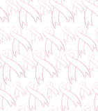 Seamless pattern with pink ribbons Royalty Free Stock Images