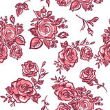 Seamless pattern pink rose Royalty Free Stock Photography