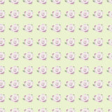 Seamless pattern with pink rose on salad background Stock Image