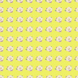 Seamless pattern with pink rose on yellow background Stock Photos