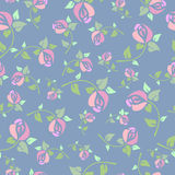 Seamless pattern with pink roses Royalty Free Stock Image