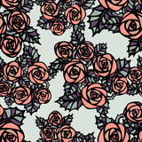 Seamless pattern with pink  roses Stock Photography
