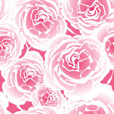 Seamless pattern with pink roses Royalty Free Stock Photography
