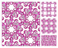 Seamless pattern - pink tiles Stock Photo