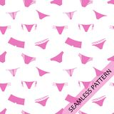 Seamless pattern, pink underwear Royalty Free Stock Image