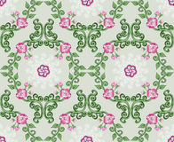 Seamless pattern  with pink and white flowers Stock Image