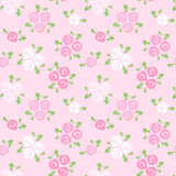 Seamless pattern with pink and white roses. stock illustration