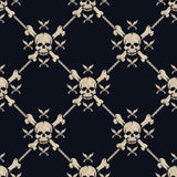 Seamless pattern pirate skulls Stock Images