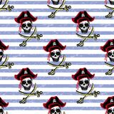 Seamless  pattern pirates, hand drawing. Seamless  pattern pirates, hand drawing,stock vector illustration Stock Photos