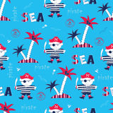 Seamless pattern with pirates Stock Photography