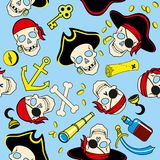 Seamless pattern of pirates seamless background royalty free illustration