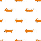 Seamless pattern with pissing dog Royalty Free Stock Photography