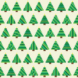 Seamless pattern with pixel Christmas tree forest. Seamless pattern with Christmas trees for winter holidays design Royalty Free Stock Image