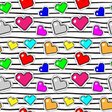 Seamless pattern with pixel hearts. Vector background. Seamless pattern with pixel hearts. Valentine`s day. Vector background vector illustration