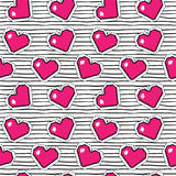 Seamless pattern with pixel hearts. Vector background. Seamless pattern with pixel hearts. Valentine`s day. Vector background royalty free illustration
