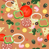 Seamless pattern pizza Royalty Free Stock Images