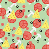 Seamless pattern for pizza toppings Stock Photos