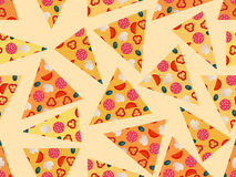 Seamless pattern with pizza. Vector illustration. Stock Photography