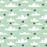 Airplane. Seamless pattern. vector illustration