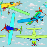 Seamless pattern with planes. For children Royalty Free Stock Image