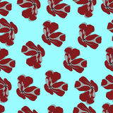 Seamless pattern with  plant. Flower. For wallpapers, T-shirt design Royalty Free Stock Photo