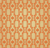 Seamless pattern from plant motif Stock Photos