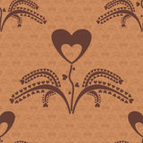Seamless pattern with a plant which grows hearts Stock Photography