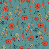 Seamless pattern with plants Royalty Free Stock Photo