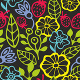 Seamless pattern with plants silhouettes. Stock Image