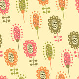 Seamless pattern with plants Royalty Free Stock Photos