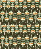Seamless pattern with plants. Royalty Free Stock Image