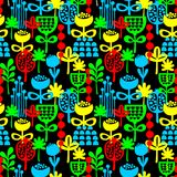 Seamless pattern with plants. Royalty Free Stock Photo