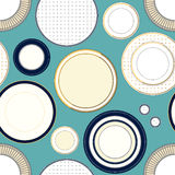 Seamless pattern with plates Royalty Free Stock Photos