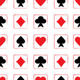 Seamless pattern with playing cards Stock Photo