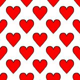 Seamless pattern playing cards suit hearts vector illustration vector illustration