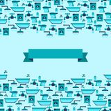 Seamless pattern with plumbing equipment Stock Photography