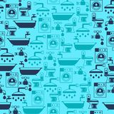 Seamless pattern with plumbing equipment Royalty Free Stock Photo