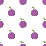 Seamless pattern with plums Royalty Free Stock Images