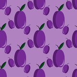 Seamless pattern with plums Stock Photos