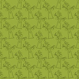 Seamless pattern, plums, hand drawing Stock Photos