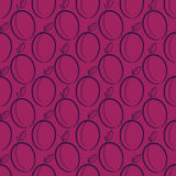 Seamless pattern, plums, hand drawing. Vector Stock Photography