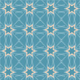 Seamless pattern with 6-pointed stars Stock Image