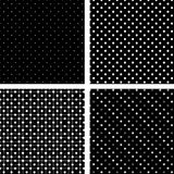 Seamless pattern pois white and black Royalty Free Stock Photos