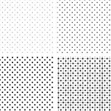 Seamless pattern pois white and black. Illustration vector background, Seamless pattern pois white and black Stock Photography