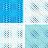 Seamless pattern pois white and blue Stock Images